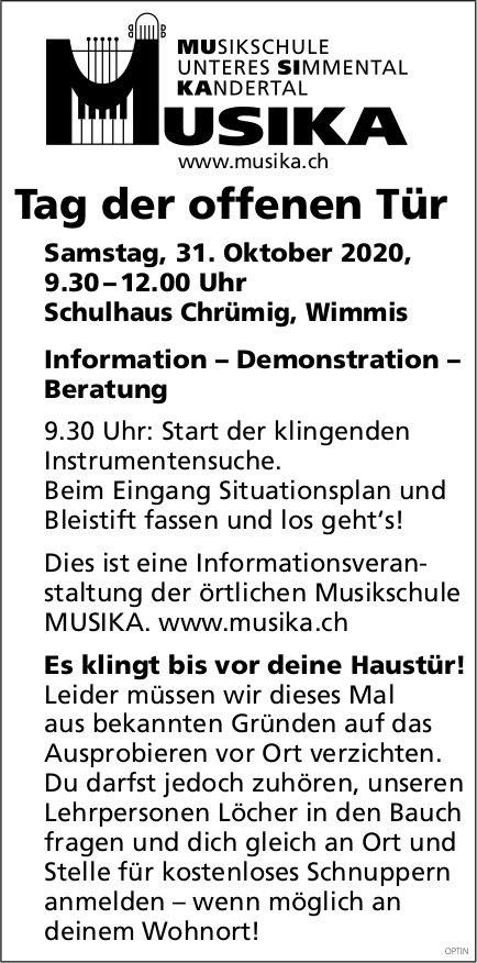 Tag der offenen Tür, 31. Oktober, Musika,  Wimmis