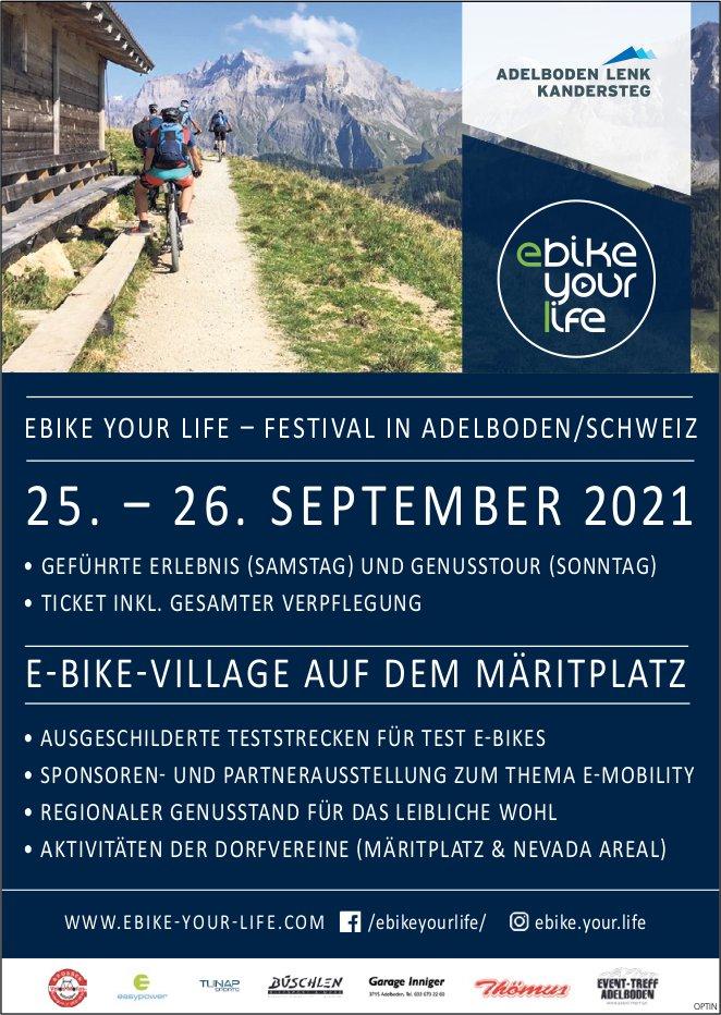 Ebike your life - Festival, 25. und 26. September, Adelboden