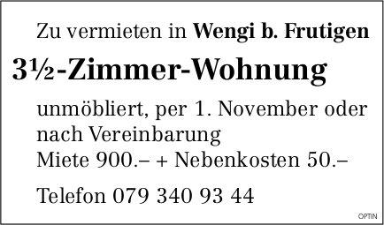 3.5-Zimmer-Wohnung, Wengi b. Frutigen, zu vermieten