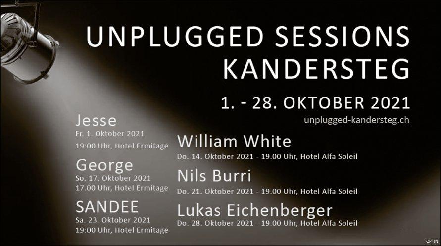 Unplugged Sessions, 1. bis 28. Oktober, Hotels Alfa Soleil und Ermitage, Kandersteg