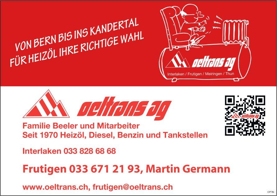 Oeltrans AG, Martin Germann, Frutigen