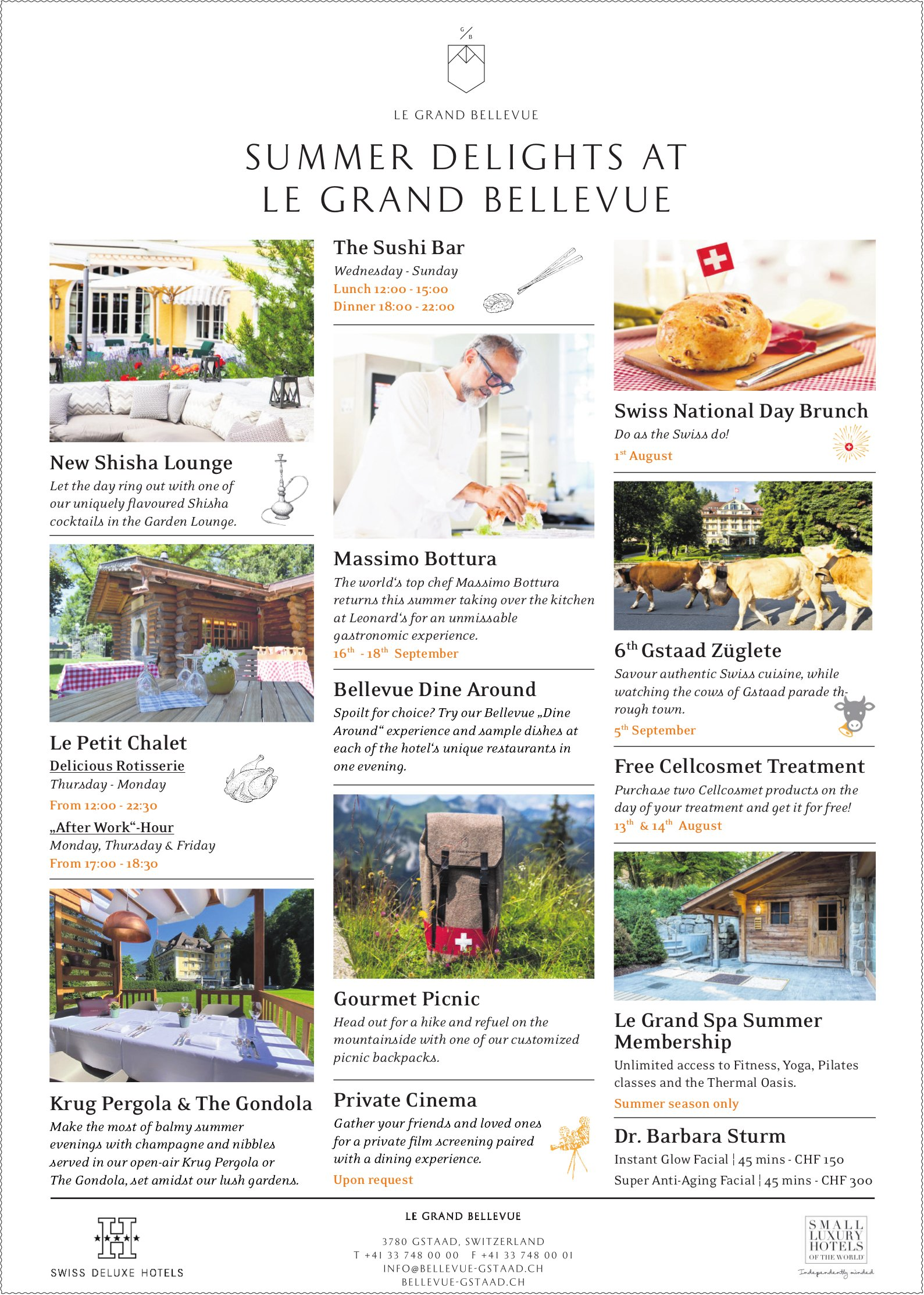 Summer Delights at Le Grand Bellevue, Gstaad