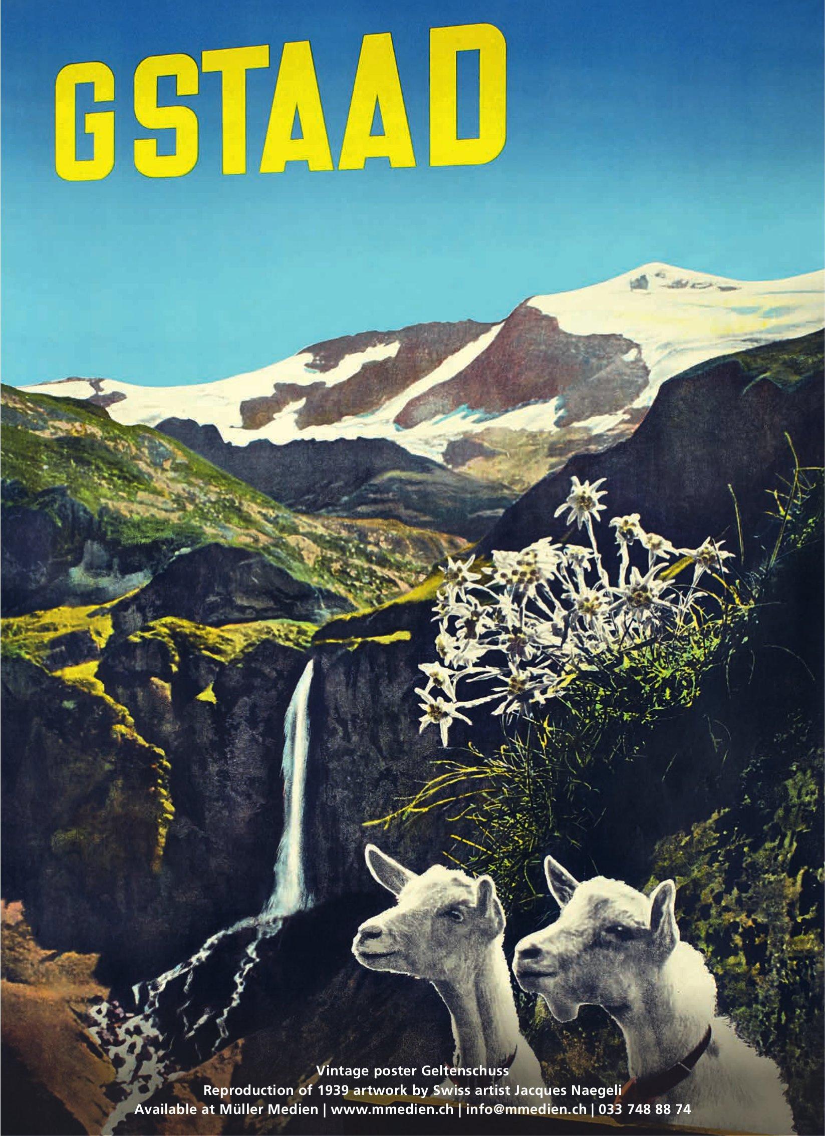 Gstaad - Vintage poster Geltenschuss
