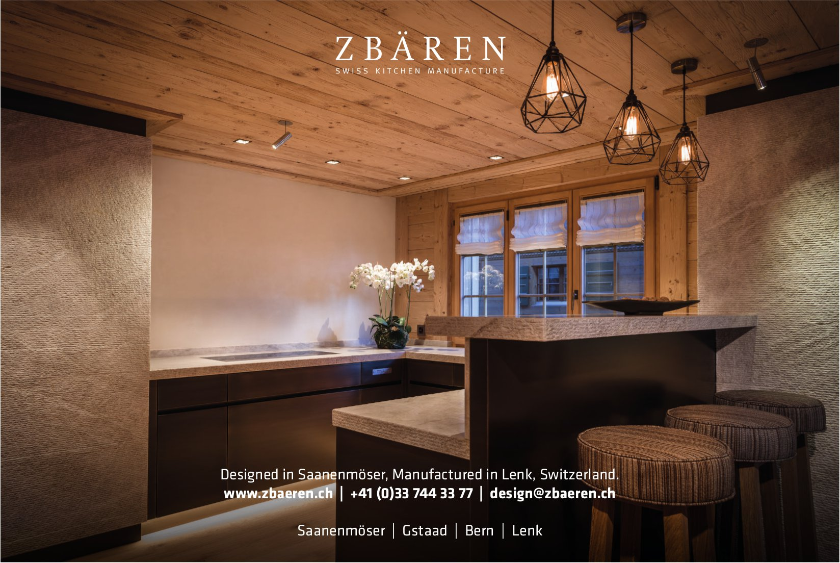 Zbären Swiss Kitchen Manufacture, Gstaad, Bern, Saanenmöser & Lenk