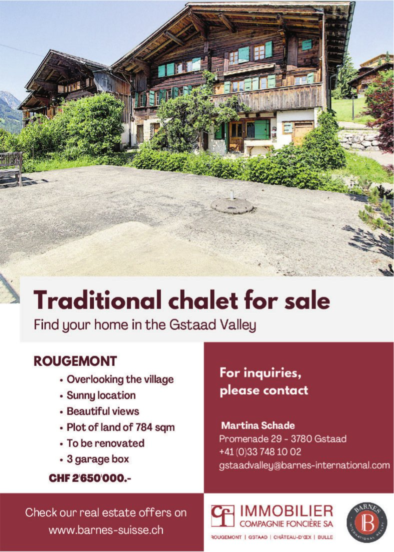 Traditional chalet, Rougemont, for sale