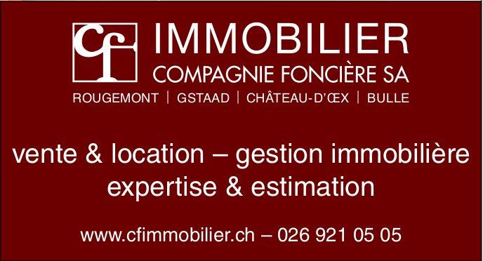 CF IMMOBILIER, COMPAGNIE FONCIÈRE SA - vente & location – gestion immobilière