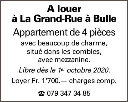 Appartement, 4 pièces, Bulle,  à louer