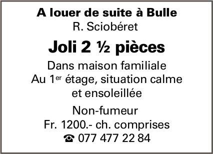 Joli appartement 2.5 pièces, Bulle,  à louer