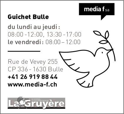 Media f SA, Bulle - Guichet Bulle