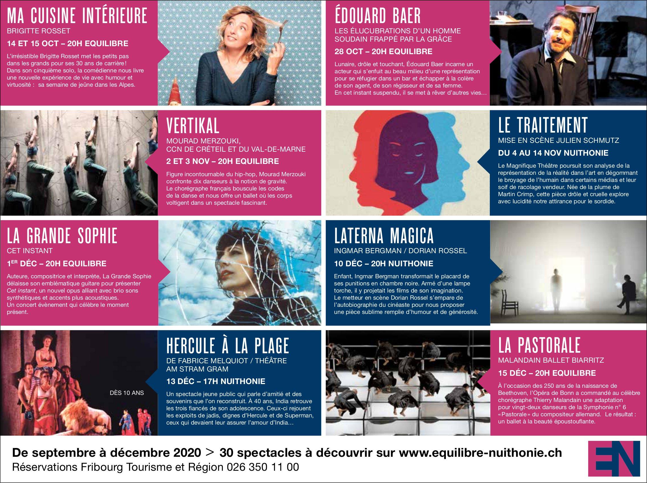 30 spectacles à découvrir, EN, Fribourg,