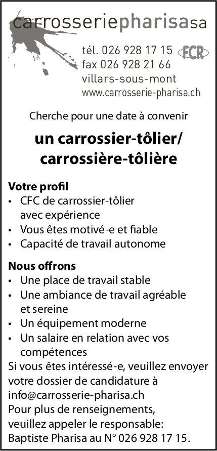 Un carrossier-tôlier/ carrossière-tôlière, Carrosserie Pharisa SA, recherché