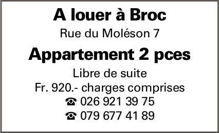 Appartement, 2 pièces, Broc, à louer
