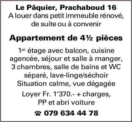 Appartement, 4½ pièces, Le Pâquier, à louer