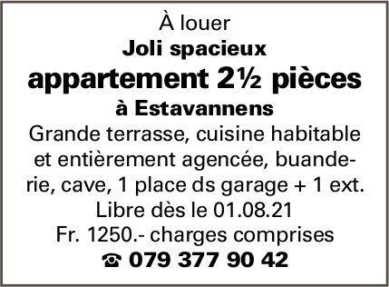 Appartement 2½ pièces, Estavannens, à louer