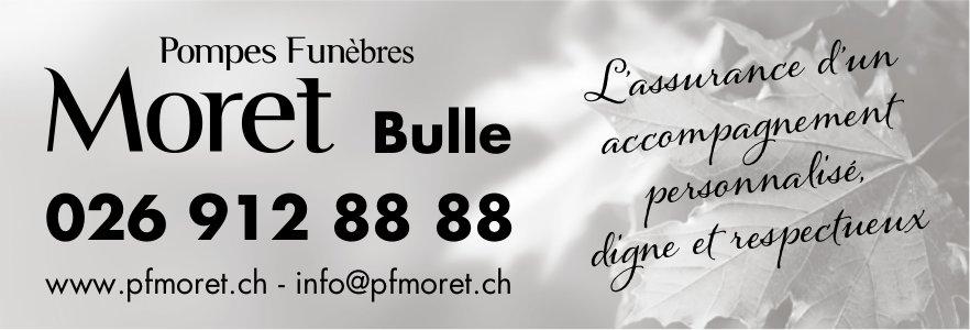 Pompes Funèbres Moret, Bulle, L'assurance d'un accompagnement personnalisé, digne et respectueux
