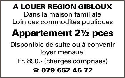 Appartement 2½ pièces, Gibloux, à louer