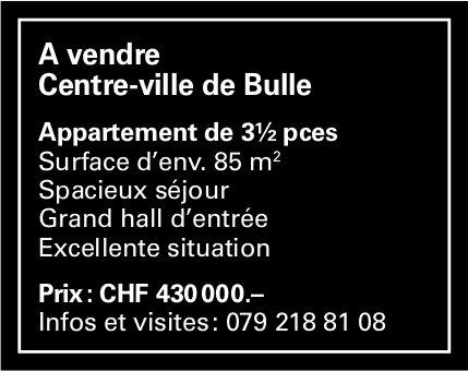 Appartement, 3½ pièces, Bulle, à vendre