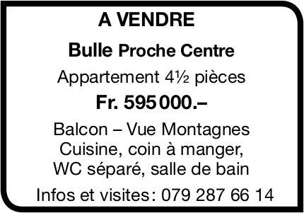 Appartement, 4½ pièces, Bulle, à vendre