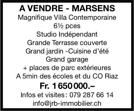 Magnifique Villa Contemporaine, 6½ pièces, Marsens, à vendre