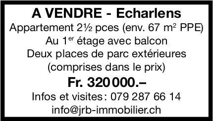 Appartement, 2½ pièces, Echarlens, à vendre