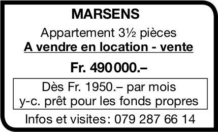 Appartement, 3½ pièces, Marsens, à vendre