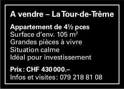 Appartement, 4½ pièces, La Tour-de-Trême, à vendre