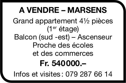 Grand appartement, 4½ pièces, Marsens, à vendre