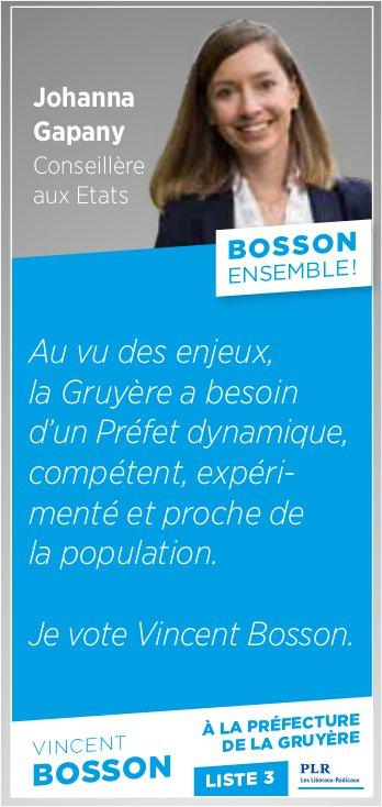 Johanna Gapany Conseillère aux Etats - Bosson ensemble
