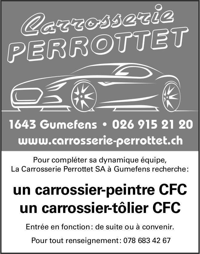 Un carrossier-peintre CFC / un carrossier-tôlier CFC, La Carrosserie Perrottet SA, Gumefens, recherché
