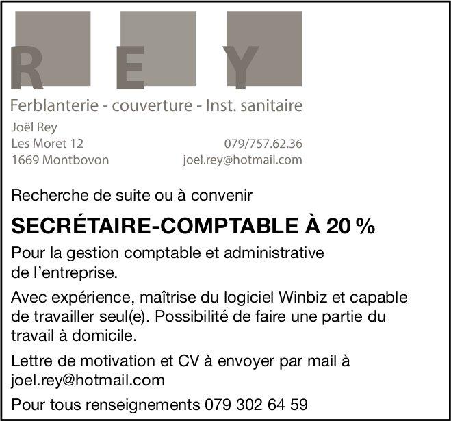 SECRÉTAIRE-COMPTABLE À 20 %, REY, Montbovon, recherché