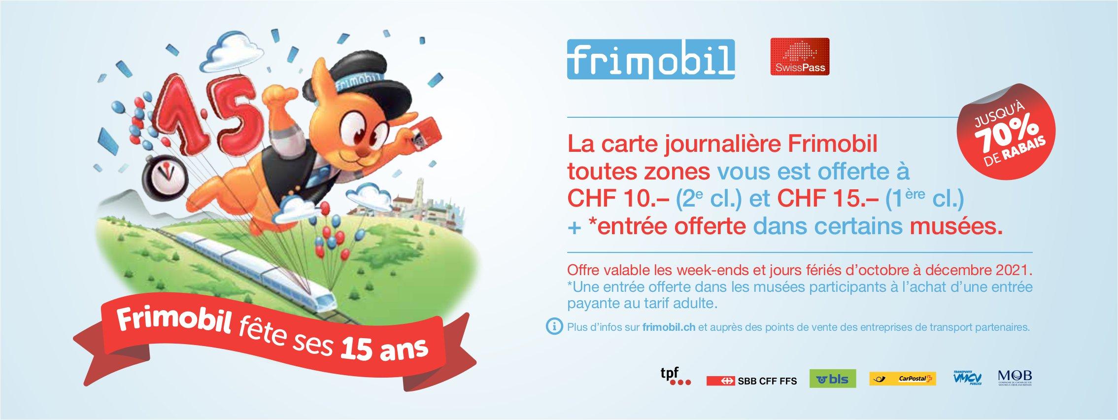 La carte journalière Frimobil toutes zones vous est offerte à CHF 10., Frimobil, recherché