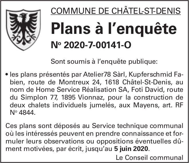 Plans à l'enquête No 2020-7-00141-O - Commune de châtel-St-Denis