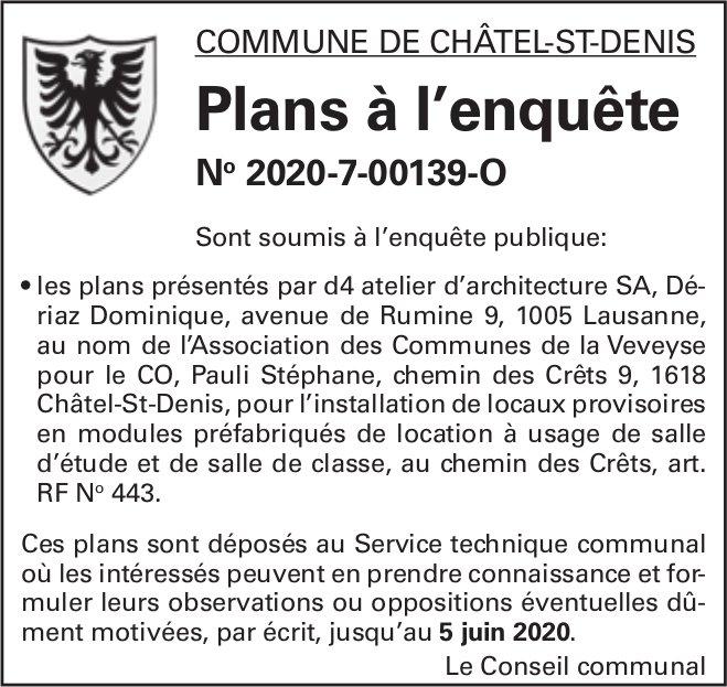 Plans à l'enquête No 2020-7-00139-O - Commune de Châtel-St-Denis