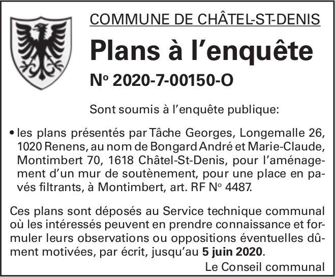 Plans à l'enquête No 2020-7-00150-O - Commune de Châtel-St-Denis