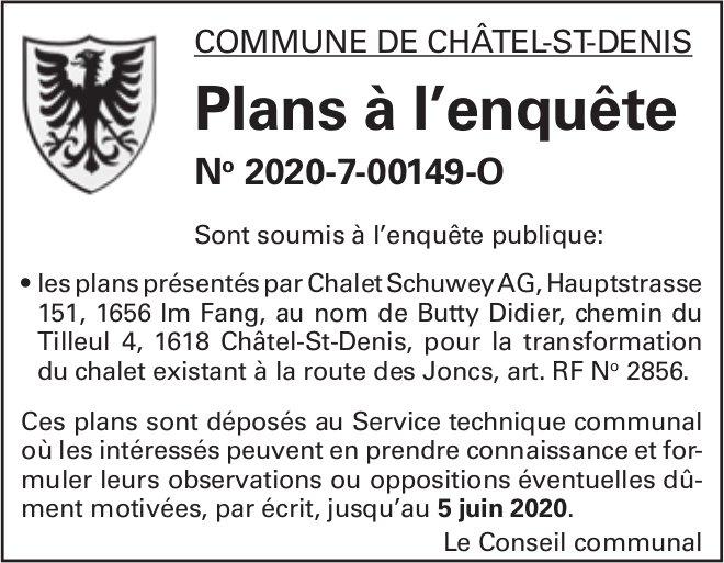 Plans à l'enquête No 2020-7-00149-O - Commune de Châtel-St-Denis