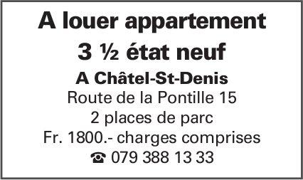 Appartement 3 ½ pièces état neuf, Châtel-St-Denis, recherché