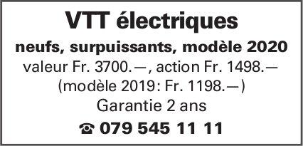 VTT électriques neufs, surpuissants, modèle 2020 valeur Fr. 3700.—, action Fr. 1498.—