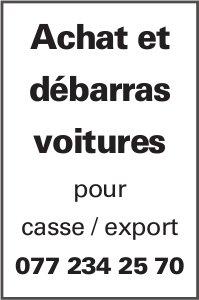 Achat et débarras voitures- pour case export