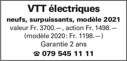 VTT électriques - neufs, surpuissants, modèle 2021 valeur Fr. 3700.—, action Fr. 1498.—