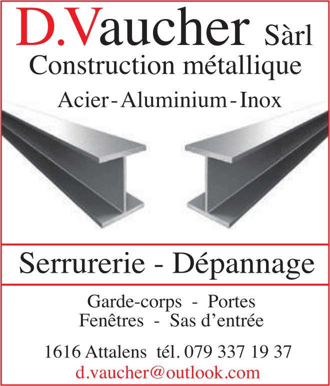 D.Vaucher SA, Attalens, Construction métallique