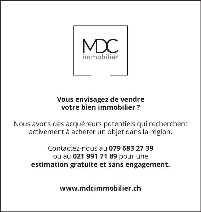 MDC immobilier, Vous envisagez de vendre votre bien immobilier ?