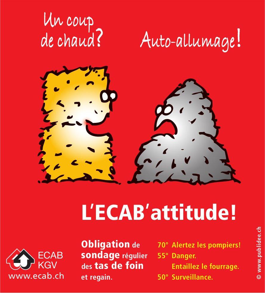 L'ECAB' attitude! - Obligation de sondage régulier des tas de foin et regain.