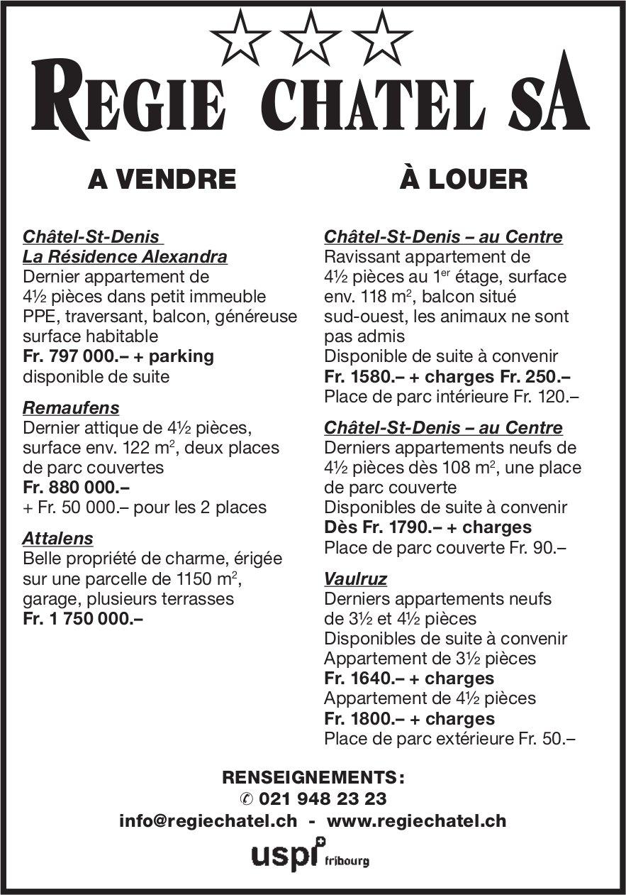 REGIS CHATEL - A VNEDRE A LOUER