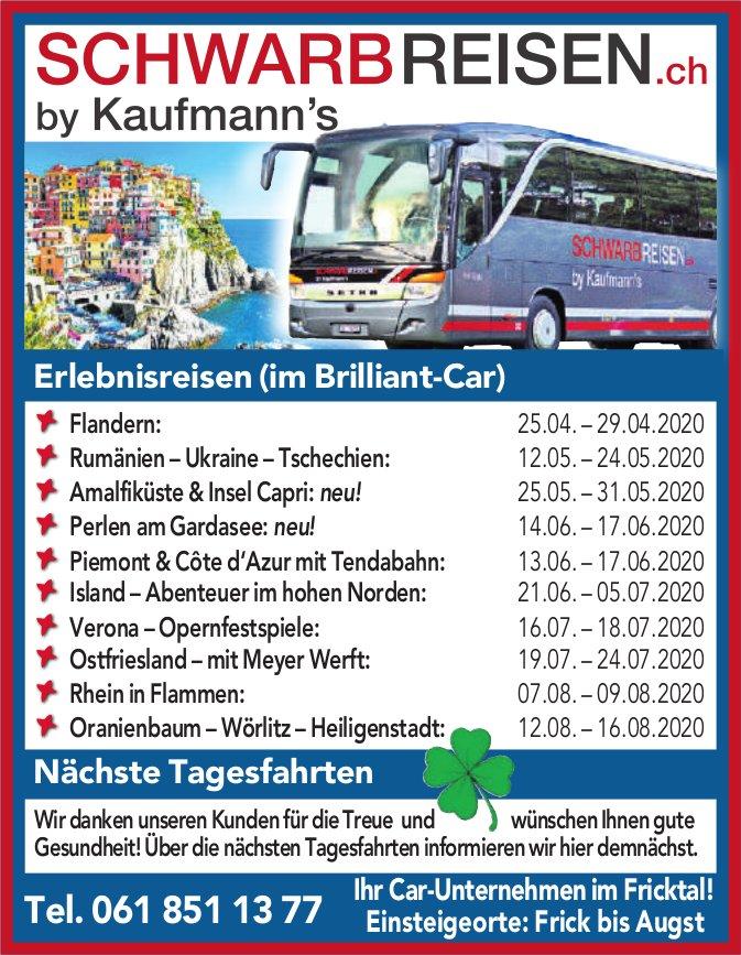 Programm & Events - SCHWARBREISEN.ch by Kaufmann's