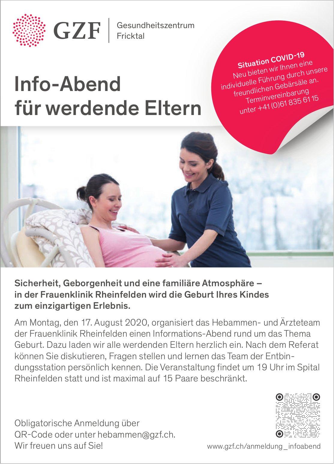 Info-Abend für werdende Eltern, 17. August, GZF, Rheinfelden