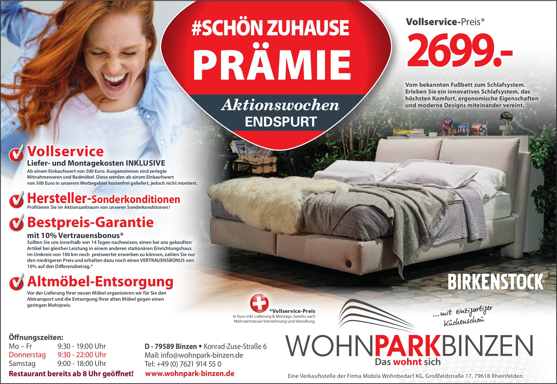#schön Zuhause Prämie, Wohnpark Binzen