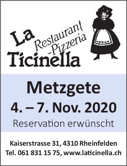 Metzgete, 4.-7. November, Restaurant Pizzeria La Ticinella, Rheinfelden
