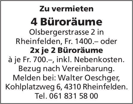 4 Büroräume, Rheinfelden, zu vermieten