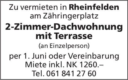 2-Zimmer-Dachwohnung mit Terrasse, Rheinfelden, zu vermieten