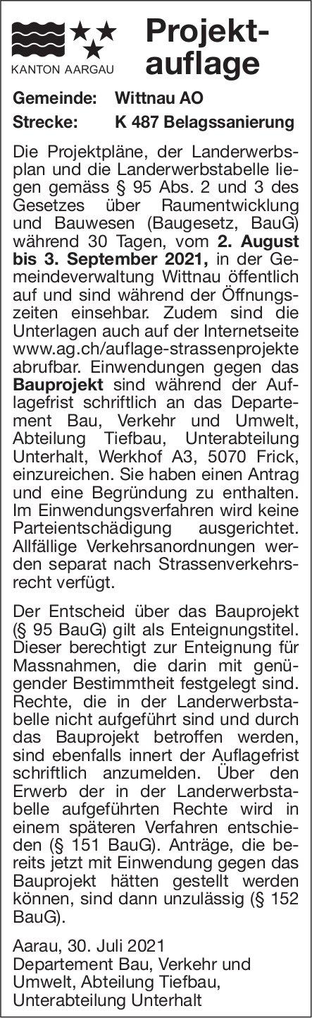 Kanton Aargau - Projektauflage K48 Belagssanierung